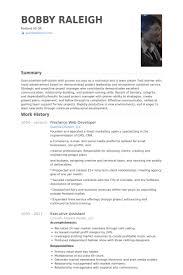 Front End Web Developer Resume Sample Freelance Web Developer Resume Samples Visualcv Resume Samples