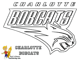 basketball coloring pages charlotte bobcats coloring pages tridanim
