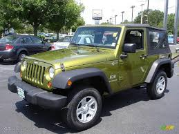 2007 green jeep wrangler 2007 rescue green metallic jeep wrangler x 4x4 13875324