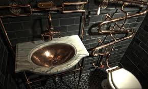 steampunk home decor bathroom design amazing steampunk bathroom accessories purple