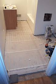 Laminate Floor Heating Installing A Heated Bathroom Floor Ryan Hobbies