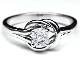 a knot ring european engagement ring knot solitaire princess diamond
