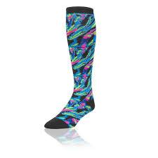 amazon com tck krazisox neon kaleidoscope socks sports u0026 outdoors