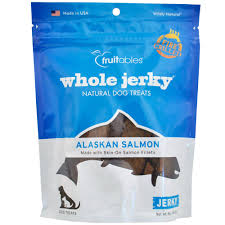 fruitables whole jerky dog treats alaskan salmon 5 oz