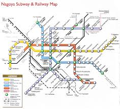 Miami Train Map by Nagoya Subway U0026 Railway Metro Maps Of The World Pinterest
