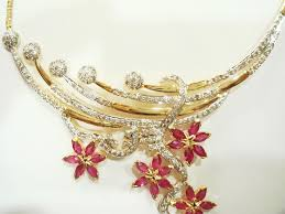 diamond ruby necklace sets images Diamond ruby necklace set images JPG