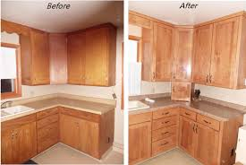 before and after pictures of stained kitchen cabinets kitchen