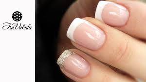 gel nail extensions using nail forms french nail art youtube