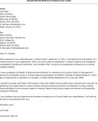 emejing marketing research analyst cover letter photos podhelp