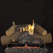 superior fireplaces 24 inch rugged stack gas logs with vent free