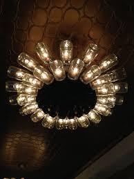 Chandelier Decor Luxury Diy Shape Glass Jar Chandelier Decoration With Brown