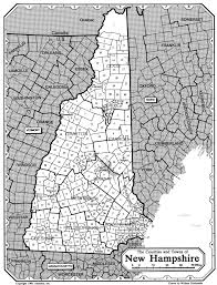 New Hampshire State Map by All About Genealogy And Family History New Hampshire Town