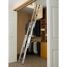 aa1510 18 in w x 24 in l x 7 ft to 9 ft 10 in h compact attic ladder