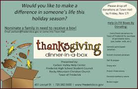 thanksgiving dinner in a box frederick co official website