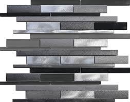 steel linear frosted glass mosaic tile kitchen gray sink ebay 11