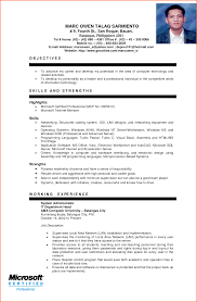 Resume Format Pdf For Mechanical Engineering Freshers by Sample Resume Format For Ojt Engineering Students Augustais