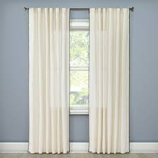 Curtains For Drafty Windows Stitched Edge Curtain Panel Threshold Target