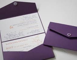 Lavender Wedding Invitations Cadburys Purple U0026 Orange Pocketfold Wedding Invitation Swirls