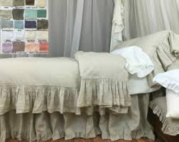 Ruffle Bedding Shabby Chic by Shabby Chic Linen Ruffled Duvet Cover With Mermaid Long Ruffle
