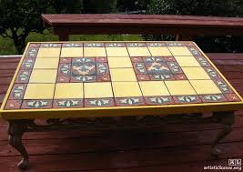 tile table top makeover tile table top custom tiled tabletop tile table top makeover