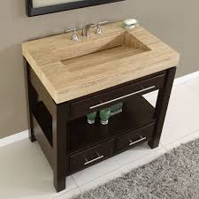amazon com silkroad exclusive dark walnut stone top single sink