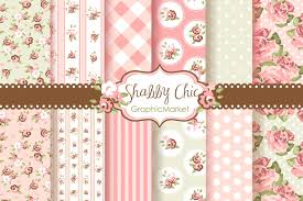 shabby chic wrapping paper shabby chic digital patterns patterns creative market