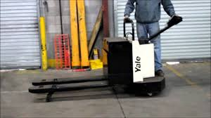 yale electric pallet jack youtube