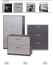 3 drawer horizontal file cabinet china office furniture filing cabinet integrated full width flush