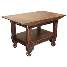 iron kitchen island rolling table kitchen island wood and cast iron for sale at 1stdibs