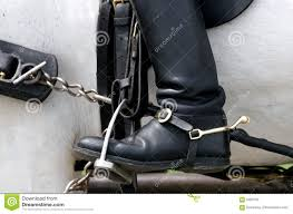 dirty riding boots boot and stirrup stock photography image 5469152