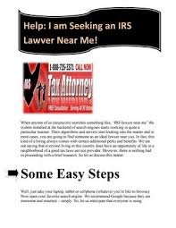 Seeking Near Me Help I Am Seeking An Irs Lawyer Near Me By Irslawyergordon Issuu