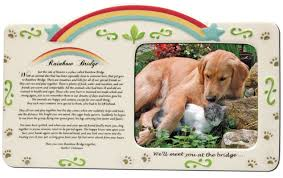 remembrance items pet bereavement photo frame rainbow bridge poem pet