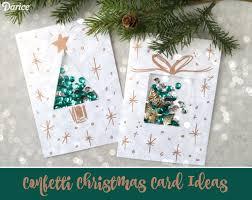 christmas cards ideas diy christmas card ideas confetti present card darice
