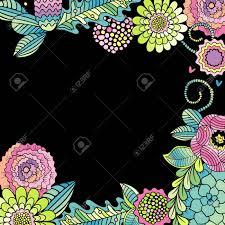flower wedding card succulent rose and leaves frame vector