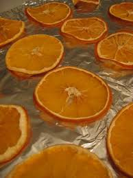 citrus tree dried orange slice ornaments
