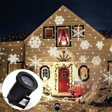 led snowflake effect lights outdoor light projector garden