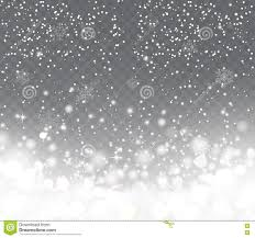 falling snow with snowflakes on transparent background stock