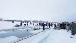 moscow russia january 2017 baptism of jesus holiday epiphany