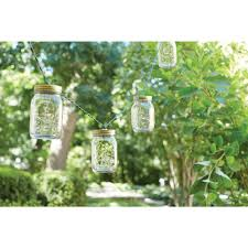 Patio String Lighting by Hampton Bay 10 Light Plastic Mason Jar Patio String Lights