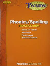 treasures phonics spelling practice book grade 3 glencoe mcgraw