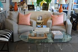 furniture oval glass lucite coffee table for your living room