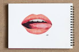 lips drawing paper colored pencils 15 x 21 cm 5 8 x 8 3 u2026 flickr