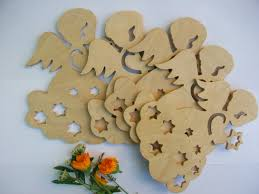 Christmas Decorations Craft Supplies by Set Of 5 Shapes Angel Plywood Diy Craft Supplies Wooden