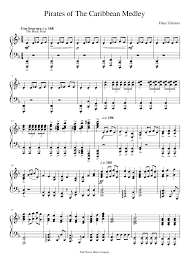 Key Signatures Worksheet Pirates Of The Caribbean Medley Musescore