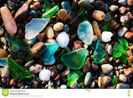 Glass Beach Glass Beach Natural Texture With Polished Sea Glass Stock Photo