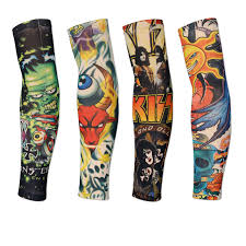 18 colors 2pcs cycling sports tattoo uv block cool arm sleeves