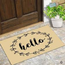 funny doormat entrance floor mat border hello creative designed