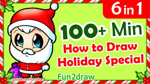 how to draw easy step by step christmas cartoon drawings