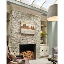Travertine Fireplace Tile by Ms International Trevi Gray Ledger Panel 6 In X 24 In Natural