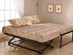 bedroom modern stained bi fold folding metal bed frame twin